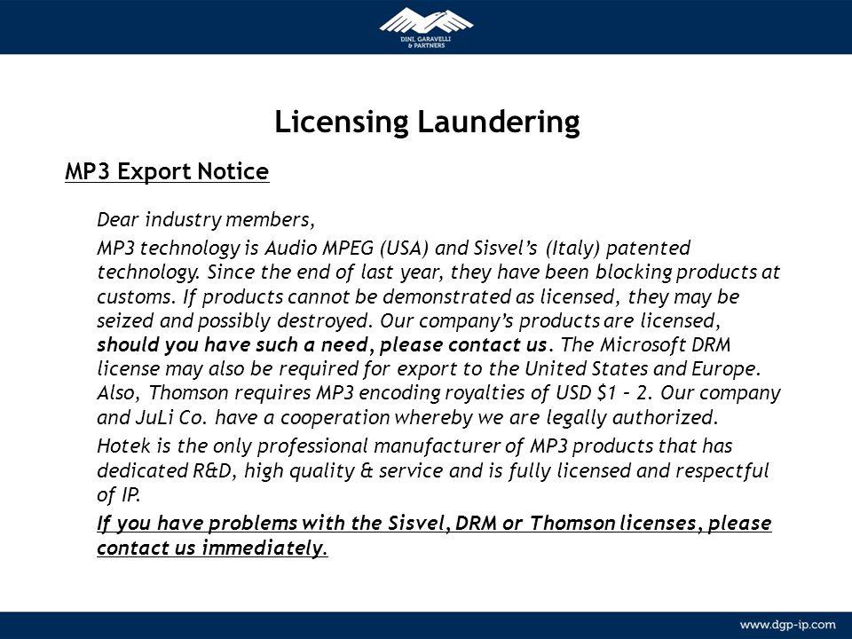 Licensing Laundering METODOLOGIA