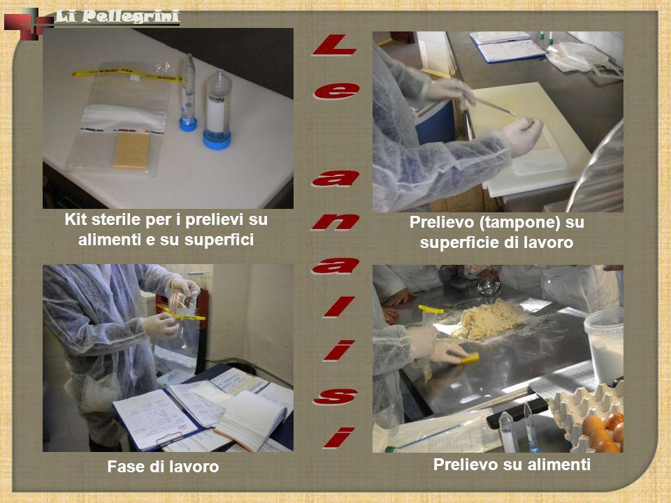 Le analisi Kit sterile per i prelievi su alimenti e su superfici