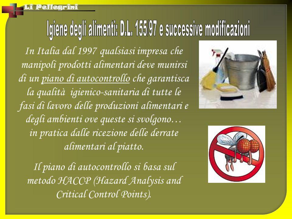 Igiene degli alimenti: D.L. 155/97 e successive modificazioni