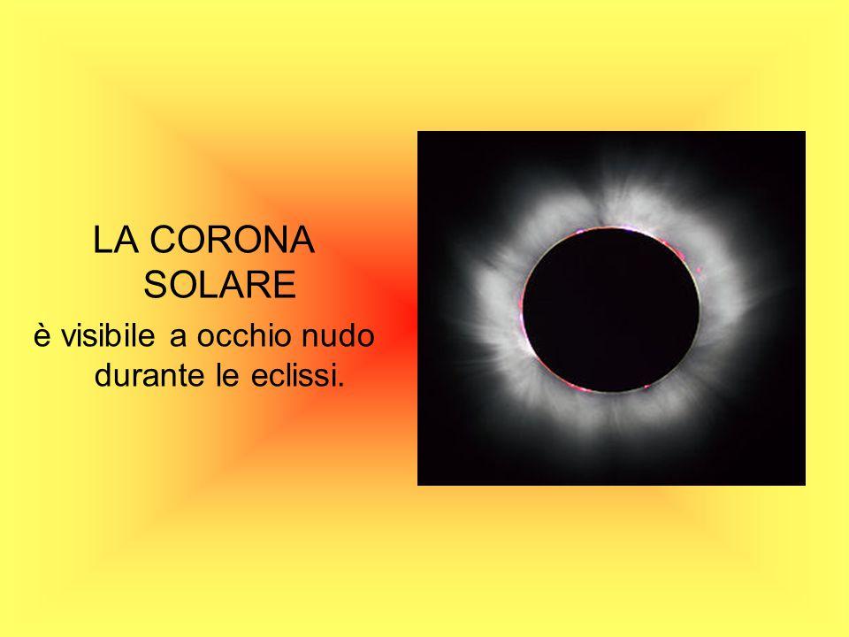 è visibile a occhio nudo durante le eclissi.