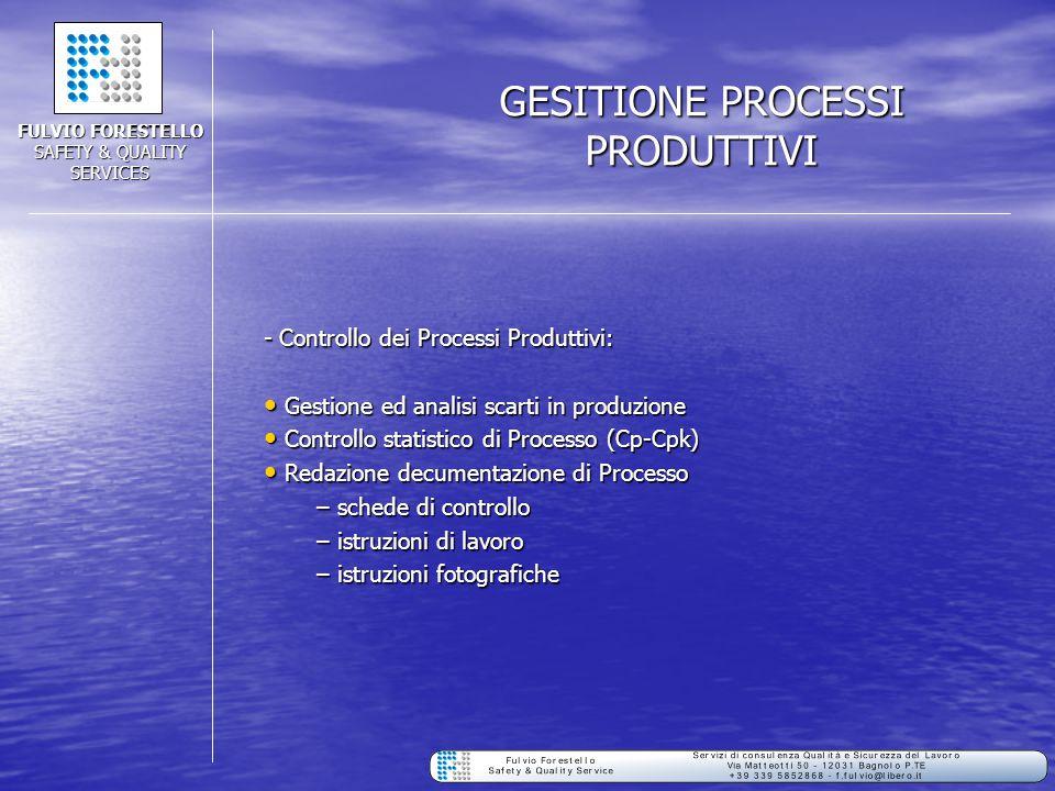 GESITIONE PROCESSI PRODUTTIVI