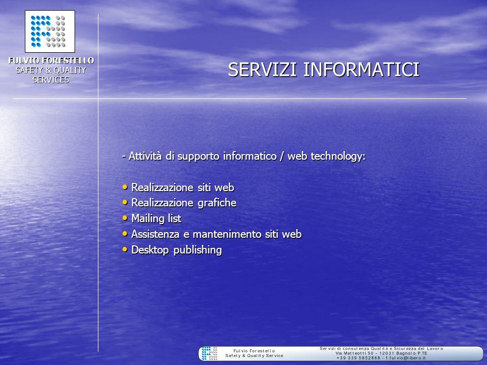 FULVIO FORESTELLO SAFETY & QUALITY SERVICES