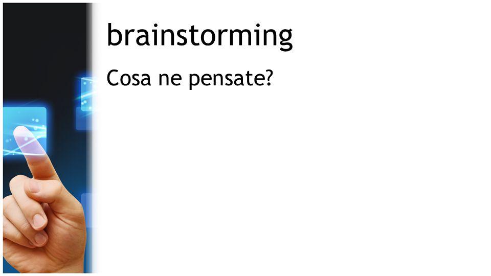 brainstorming Cosa ne pensate