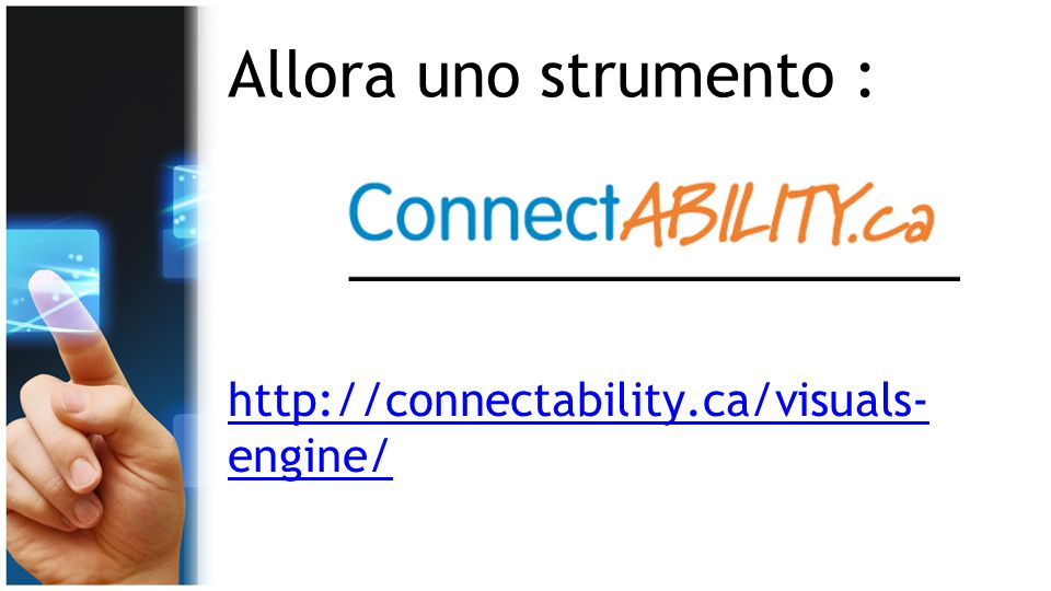 Allora uno strumento : http://connectability.ca/visuals- engine/