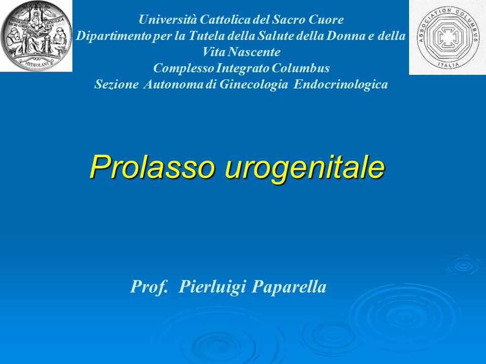 Prof. Pierluigi Paparella