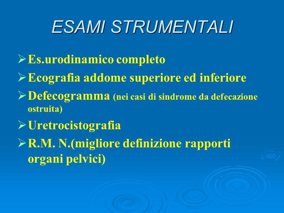 ESAMI STRUMENTALI Es.urodinamico completo