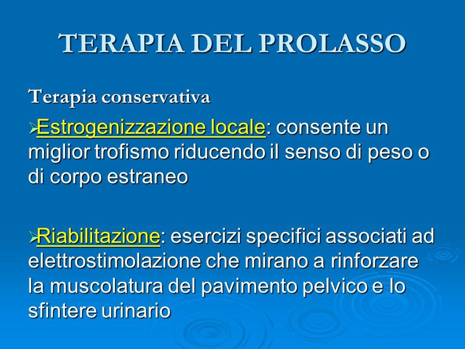 TERAPIA DEL PROLASSO Terapia conservativa