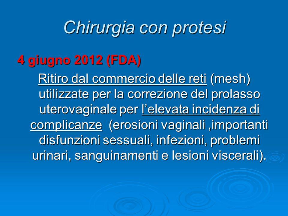 Chirurgia con protesi 4 giugno 2012 (FDA)