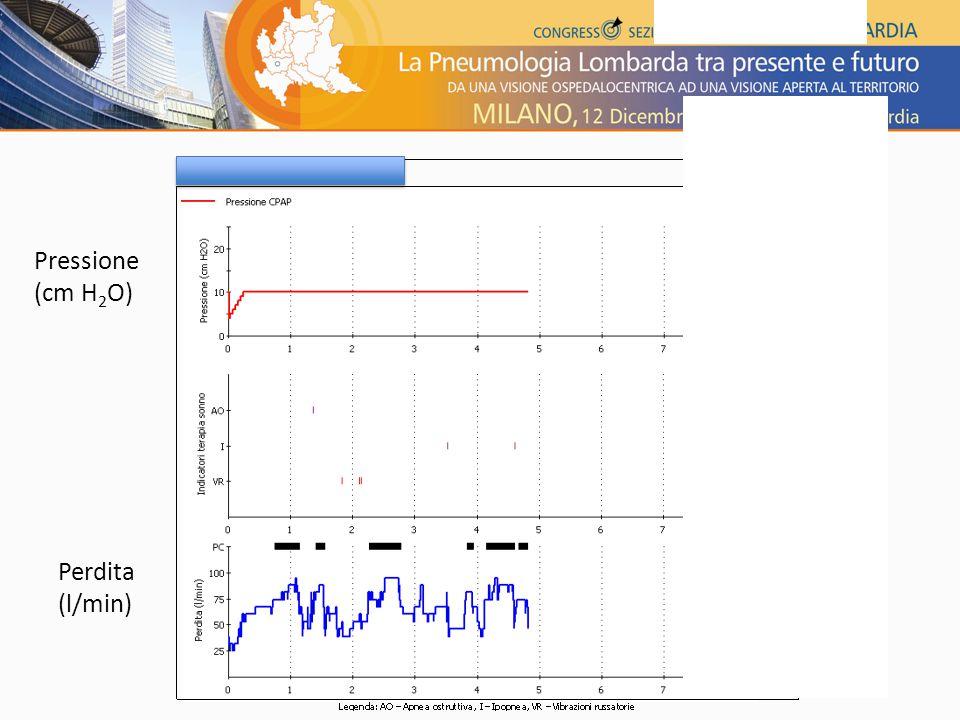 Pressione (cm H2O) Perdita (l/min)