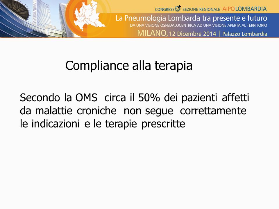 Compliance alla terapia