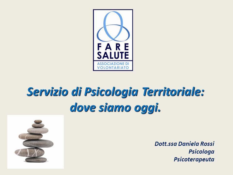 Servizio di Psicologia Territoriale: dove siamo oggi.