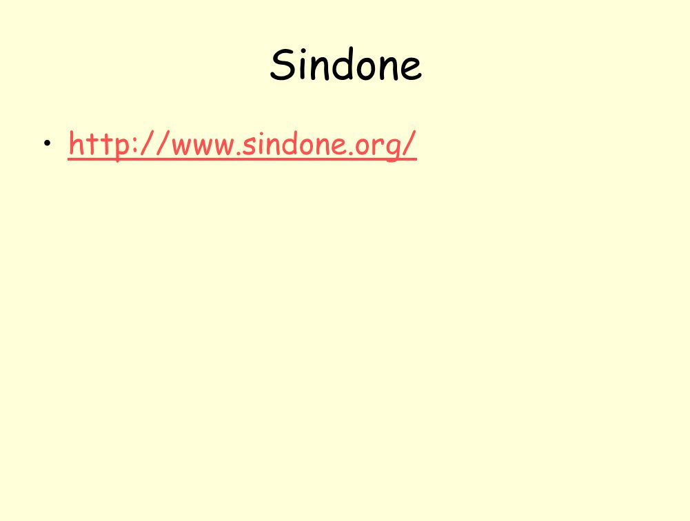 Sindone http://www.sindone.org/