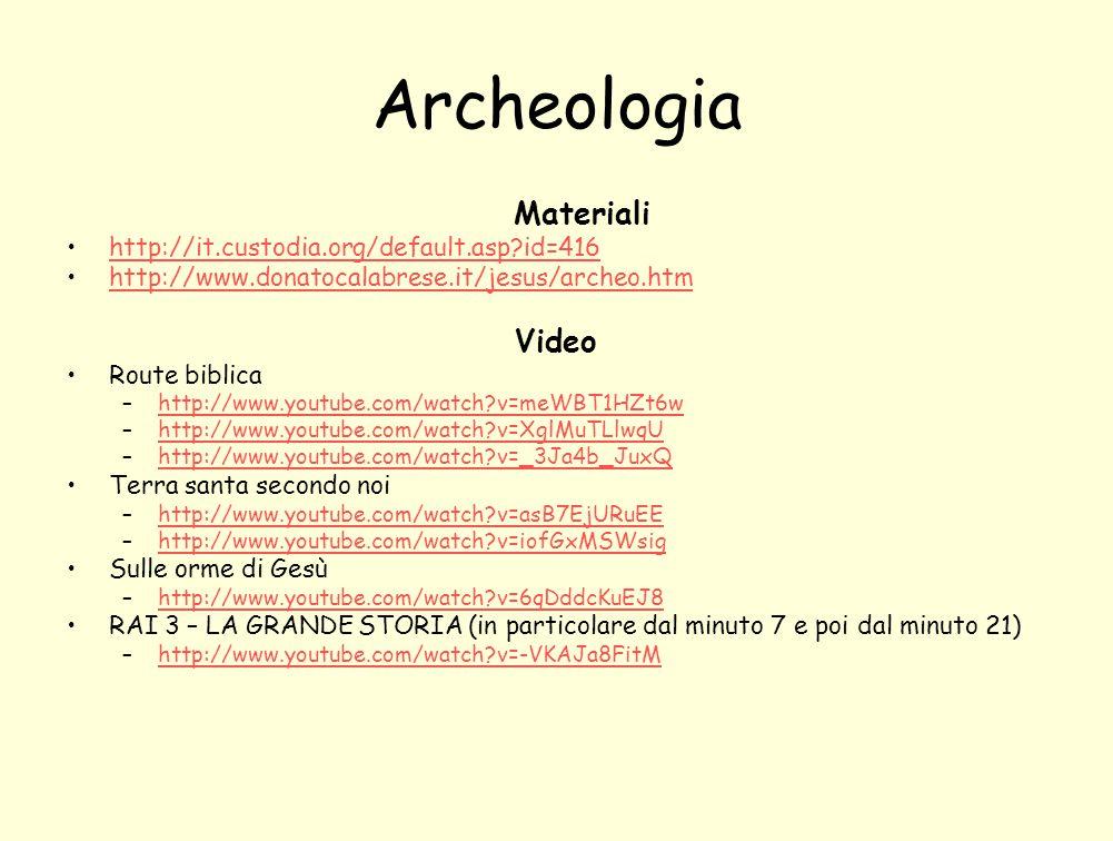 Archeologia Materiali Video http://it.custodia.org/default.asp id=416