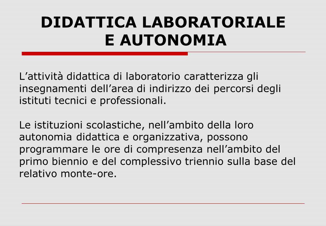 DIDATTICA LABORATORIALE E AUTONOMIA