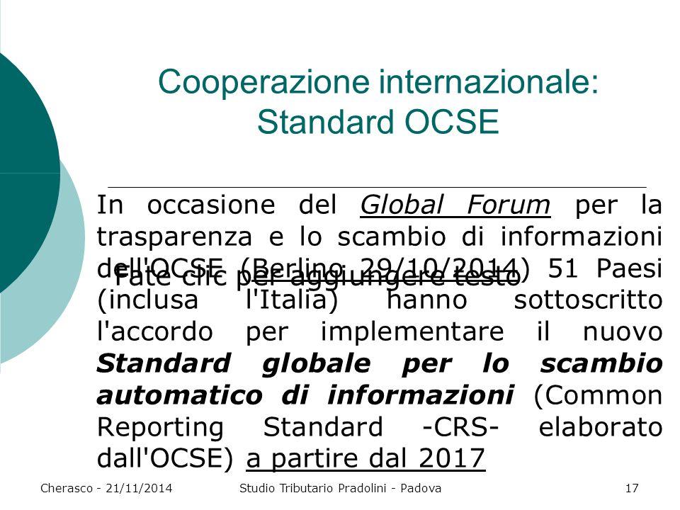 Cooperazione internazionale: Standard OCSE