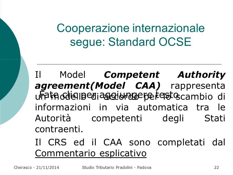 Cooperazione internazionale segue: Standard OCSE