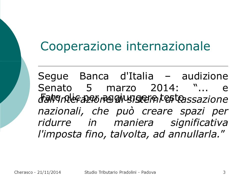 Cooperazione internazionale