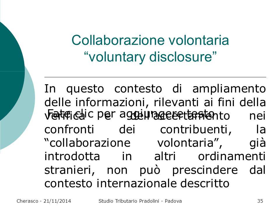 Collaborazione volontaria voluntary disclosure