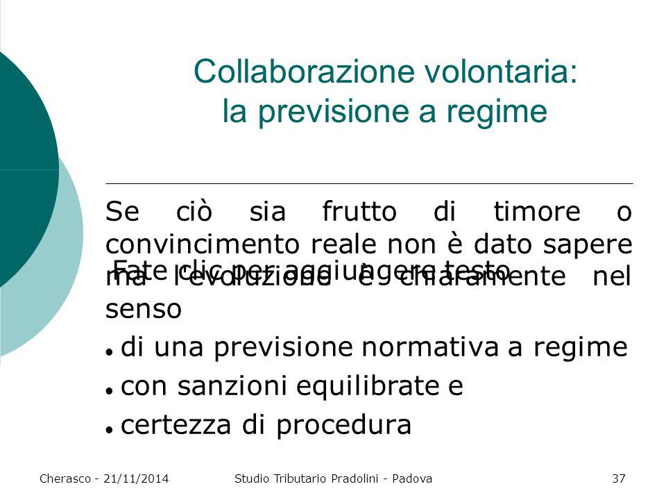 Collaborazione volontaria: la previsione a regime