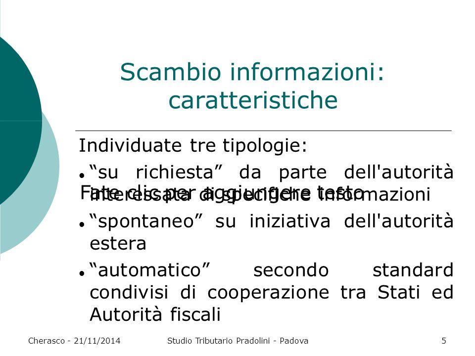 Scambio informazioni: caratteristiche