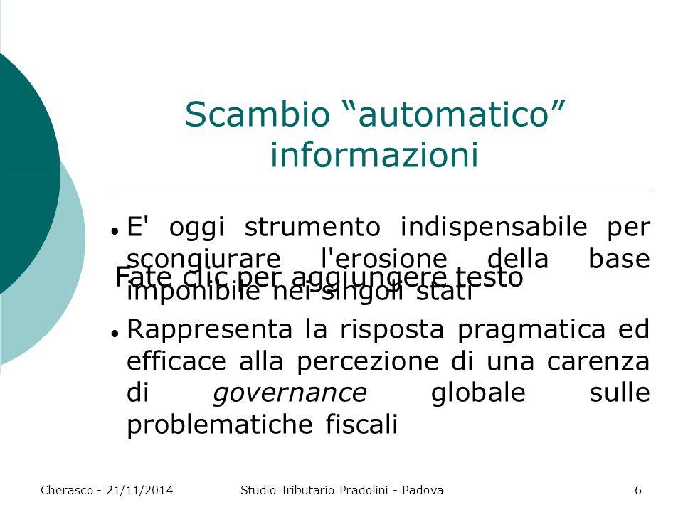 Scambio automatico informazioni