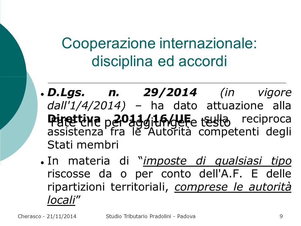 Cooperazione internazionale: disciplina ed accordi