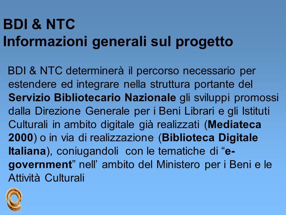 BDI & NTC Informazioni generali sul progetto