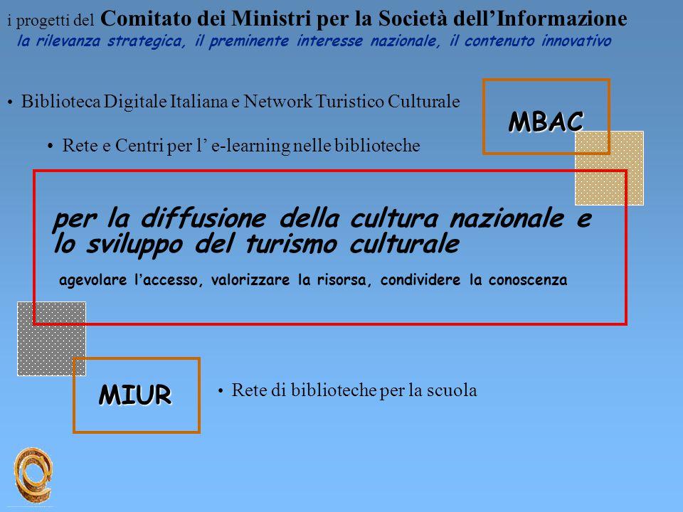 i progetti del Comitato dei Ministri per la Società dell'Informazione