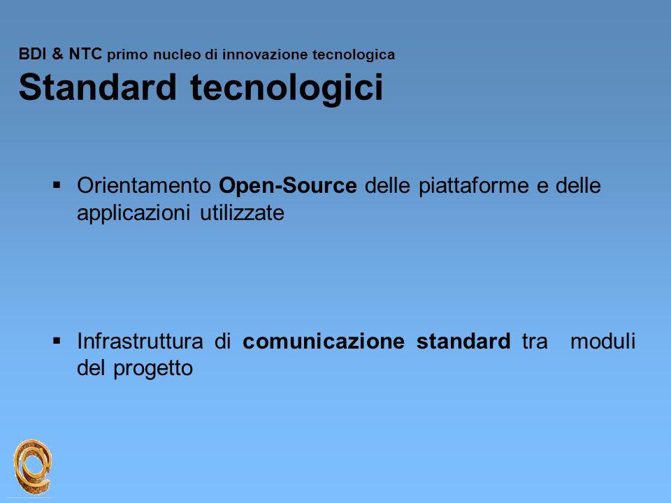 BDI & NTC primo nucleo di innovazione tecnologica Standard tecnologici