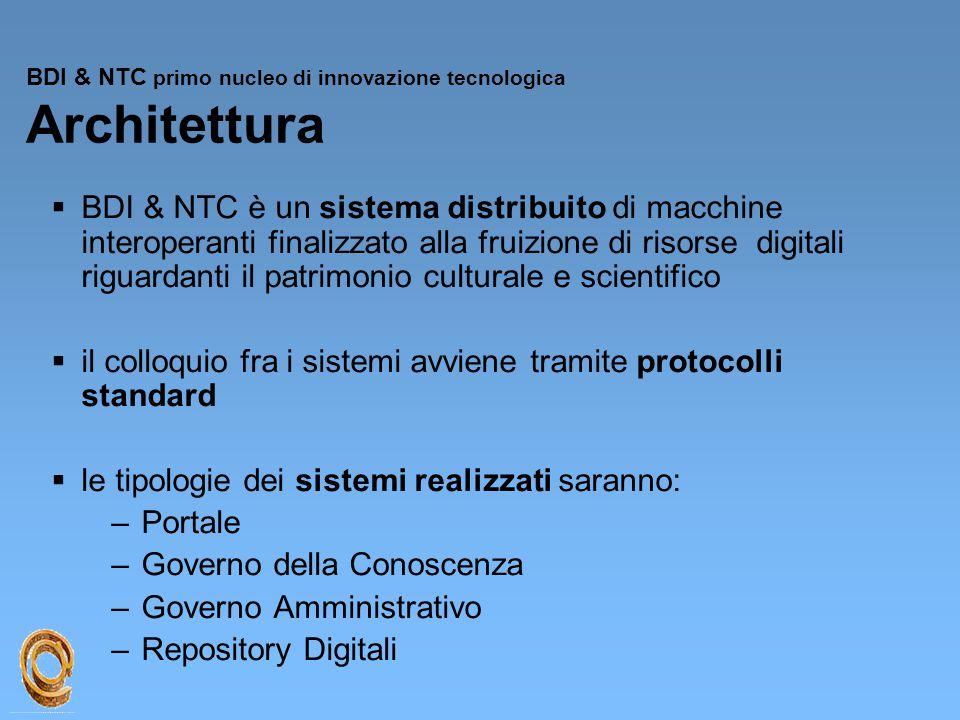 BDI & NTC primo nucleo di innovazione tecnologica Architettura
