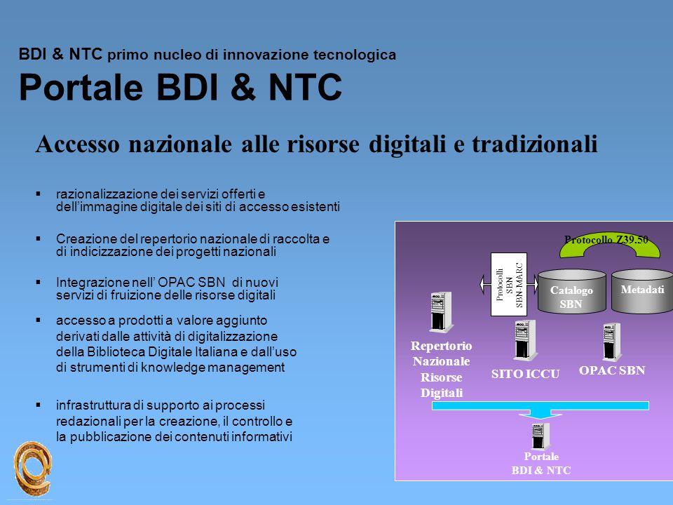 BDI & NTC primo nucleo di innovazione tecnologica Portale BDI & NTC