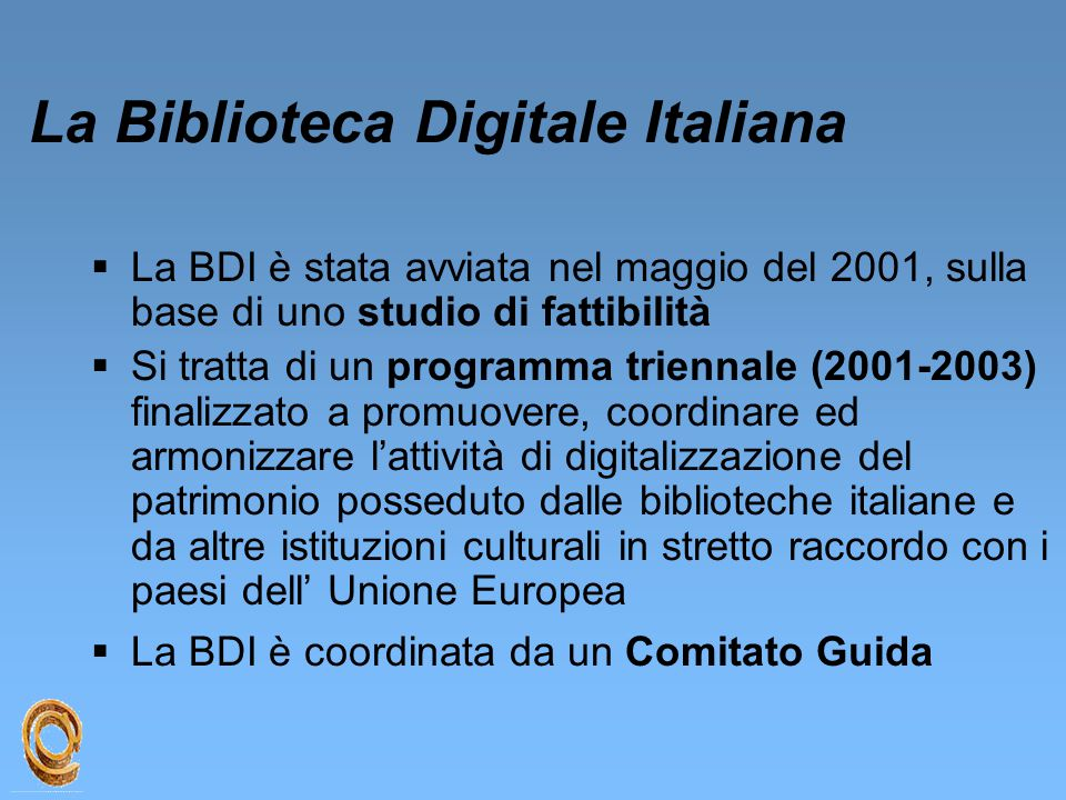 La Biblioteca Digitale Italiana