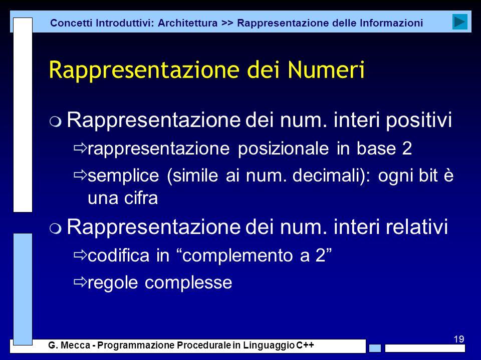 Rappresentazione dei Numeri