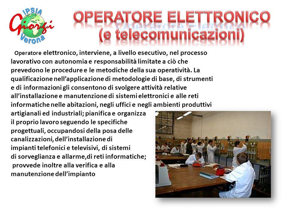 OPERATORE ELETTRONICO (e telecomunicazioni)