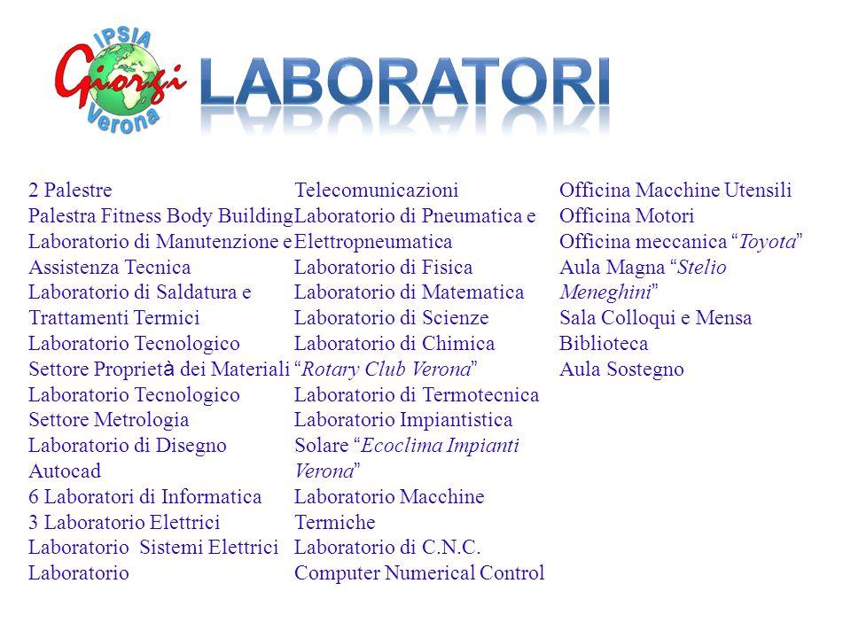 LABORATORI 2 Palestre Laboratorio Telecomunicazioni