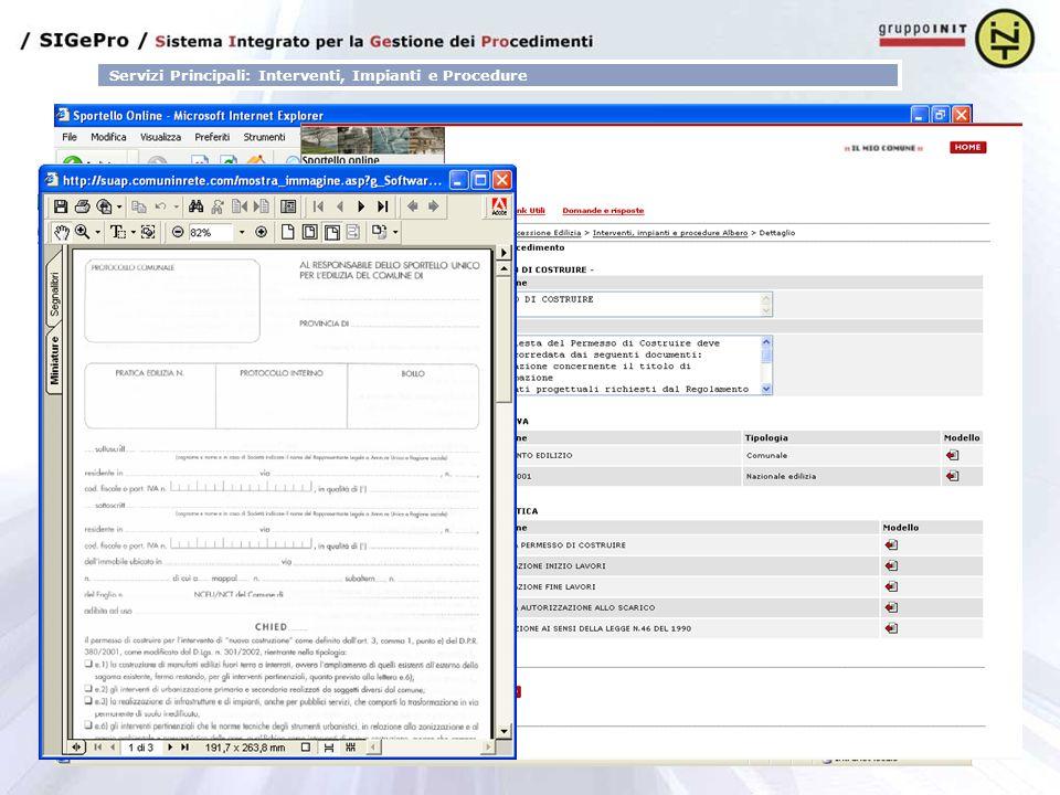 Servizi Principali: Interventi, Impianti e Procedure