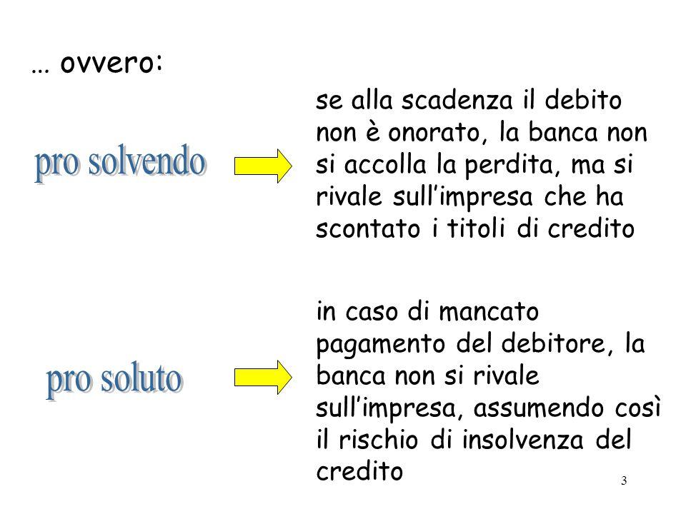 pro solvendo pro soluto … ovvero: