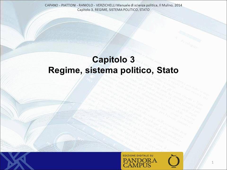 Capitolo 3 Regime, sistema politico, Stato