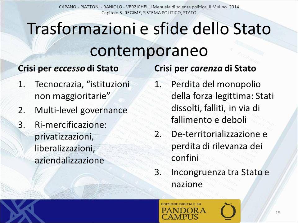 Trasformazioni e sfide dello Stato contemporaneo
