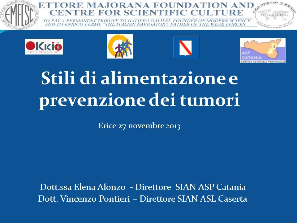 Stili di alimentazione e prevenzione dei tumori