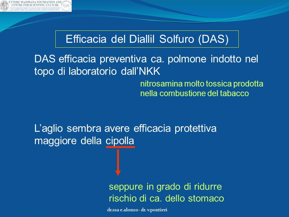 Efficacia del Diallil Solfuro (DAS)