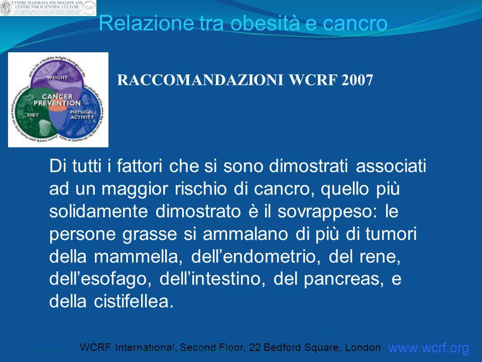 Relazione tra obesità e cancro