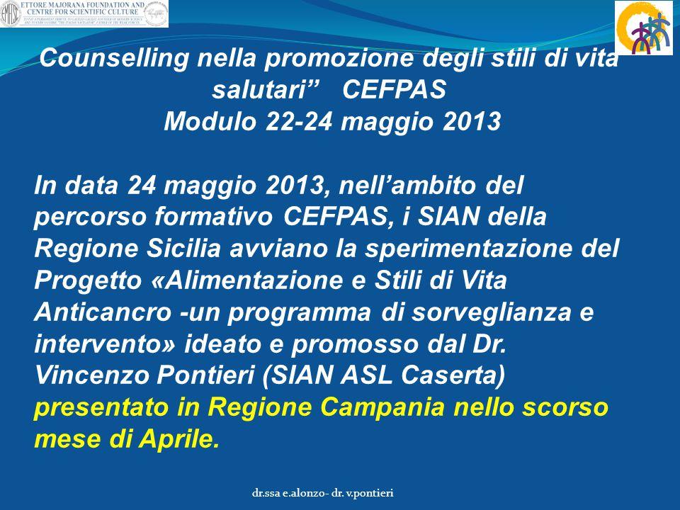Counselling nella promozione degli stili di vita salutari CEFPAS