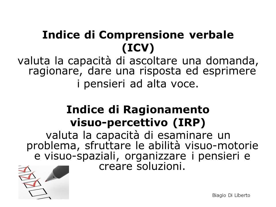 Indice di Comprensione verbale (ICV)