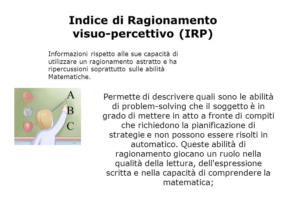 Indice di Ragionamento visuo-percettivo (IRP)