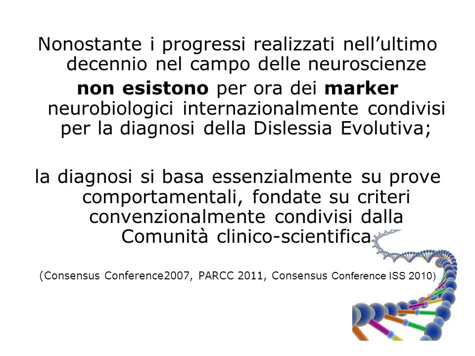 (Consensus Conference2007, PARCC 2011, Consensus Conference ISS 2010)