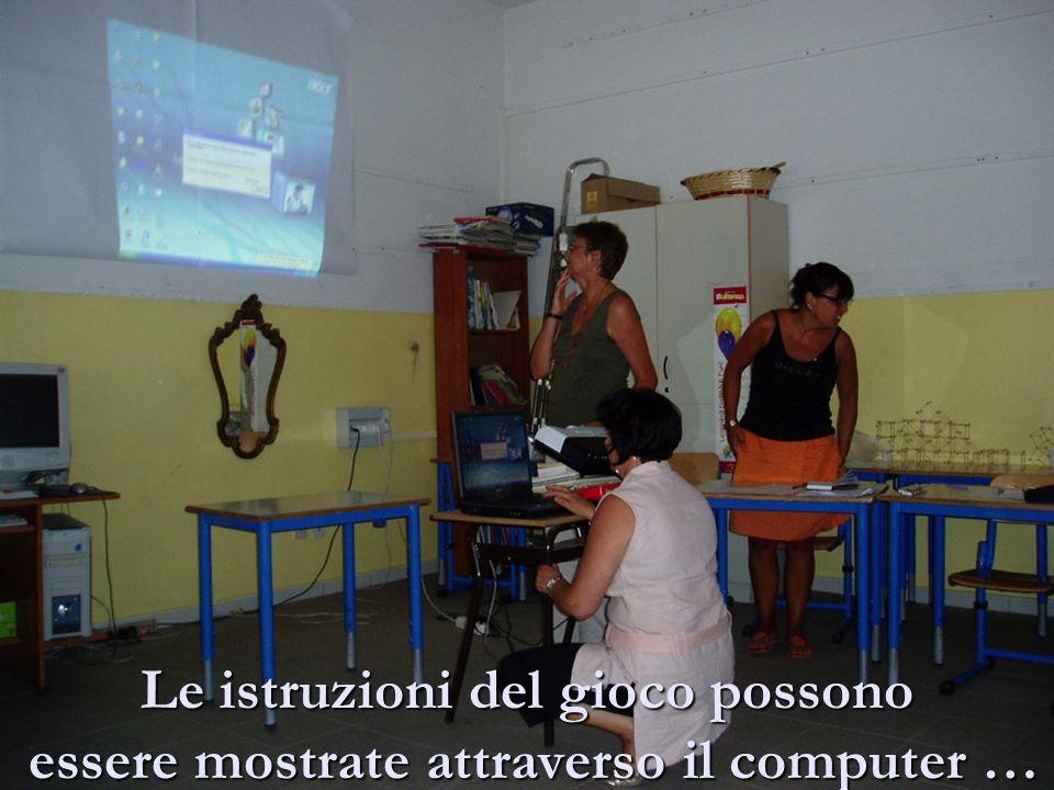 Le istruzioni del gioco possono essere mostrate attraverso il computer …