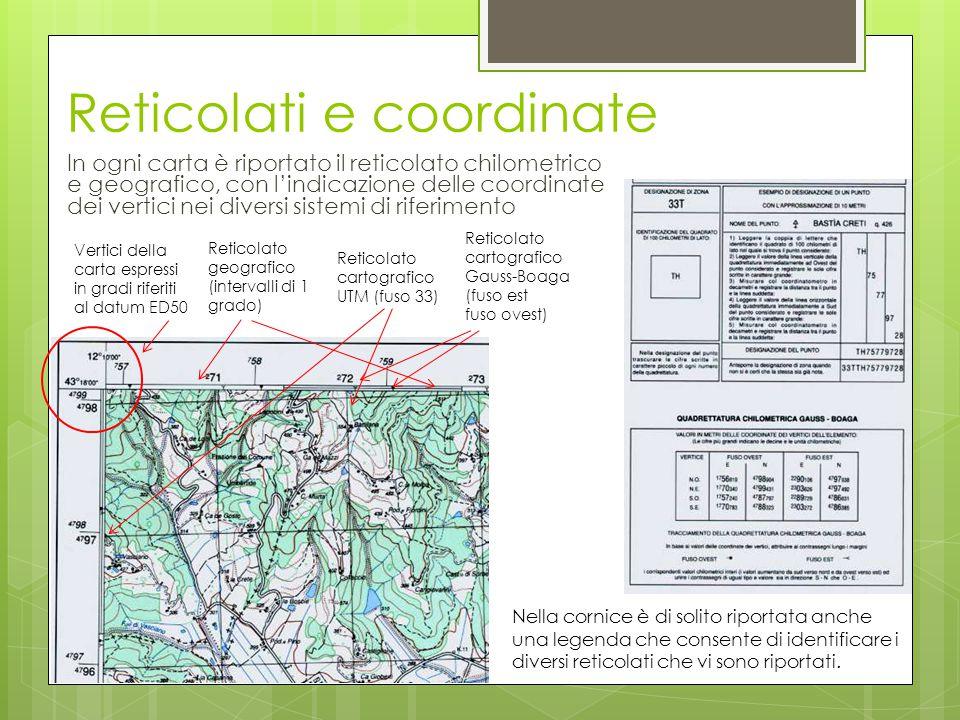 Reticolati e coordinate