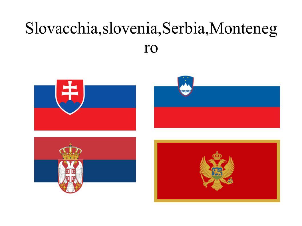 Slovacchia,slovenia,Serbia,Montenegro