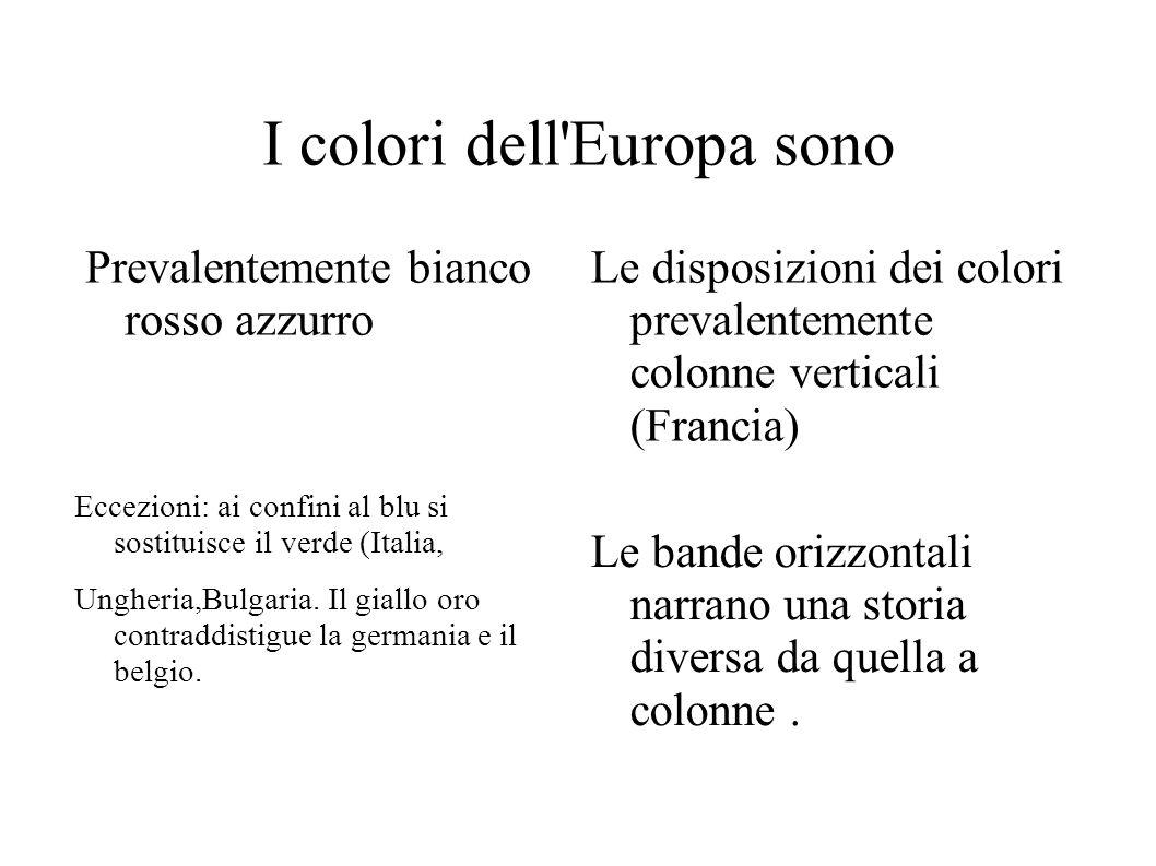 I colori dell Europa sono
